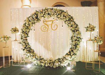 backdrop chup hình cưới đẹp
